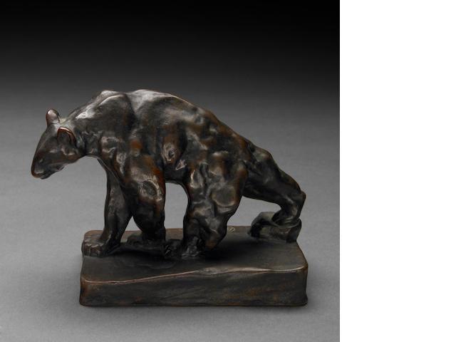 Arthur Putnam (American, 1873-1930) Bear Walking, 1910 height: 4 1/4in
