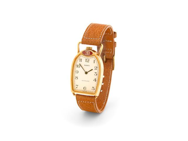 Bugatti. An 18k gold self-winding wristwatch in the form of a Bugatti radiatorEttore Bugati, made in the 1990s