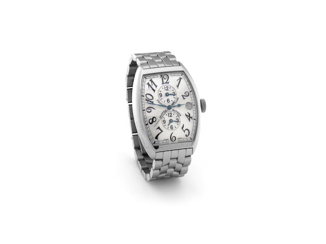 Gents wristwatch stainless dual time