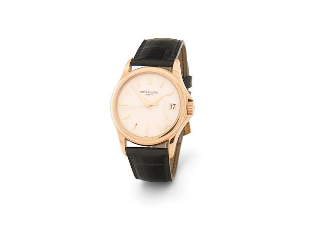 Patek Philippe. A fine 18k rose gold self-winding calendar wristwatchCalatrava, Ref.5107R, circa 2004