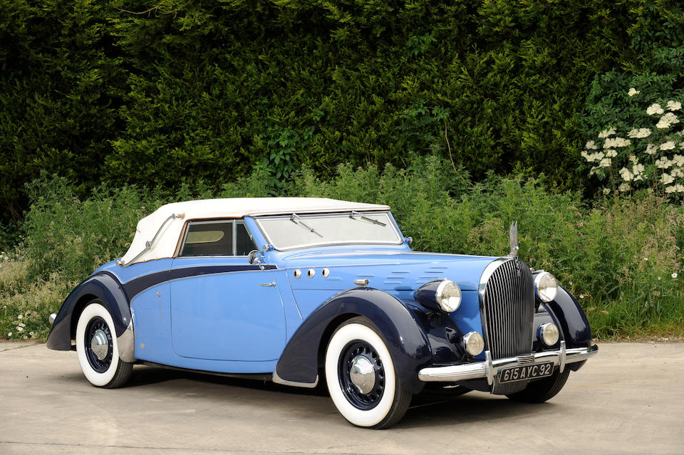 Commissioned as a show car, the only one built,1938 Avions Voisin C30 Cabriolet  Chassis no. 60007