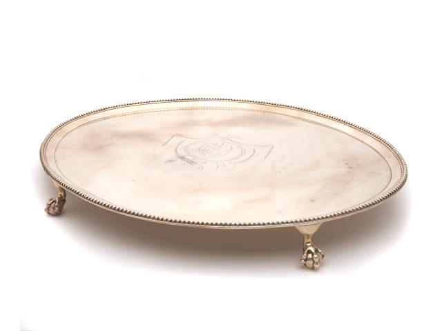 George III Silver Salver by Richard Rugg