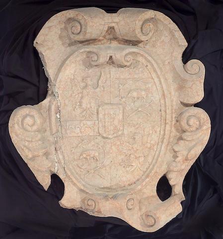 An Italian Renaissance Verona marble escutcheon