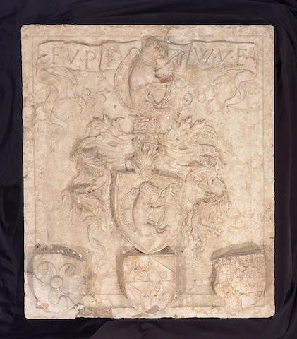 A superb Austrian Renaissance marble coat of arms