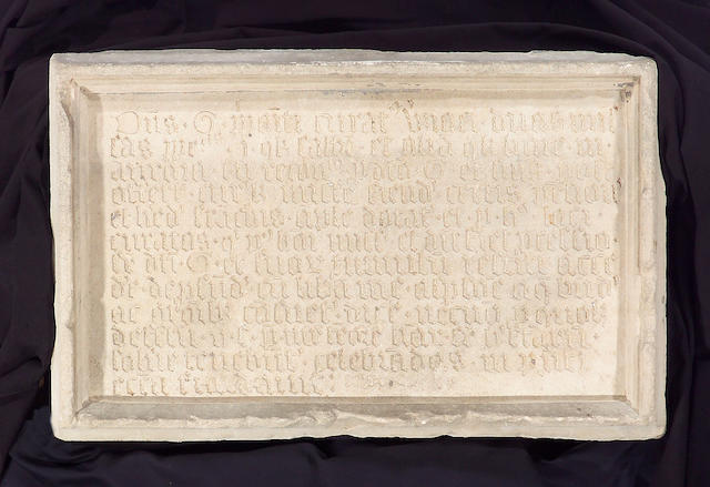 An Italian early Renaissance limestone Requiem plaque