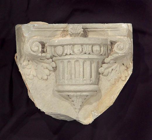 An Italian Renaissance carved stone corbel