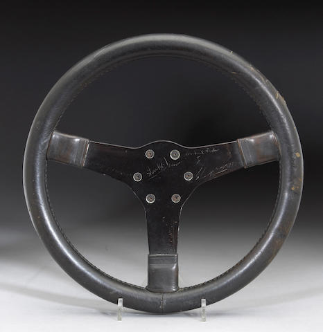 A Porsche 917 Steering Wheel From The Movie Lemans