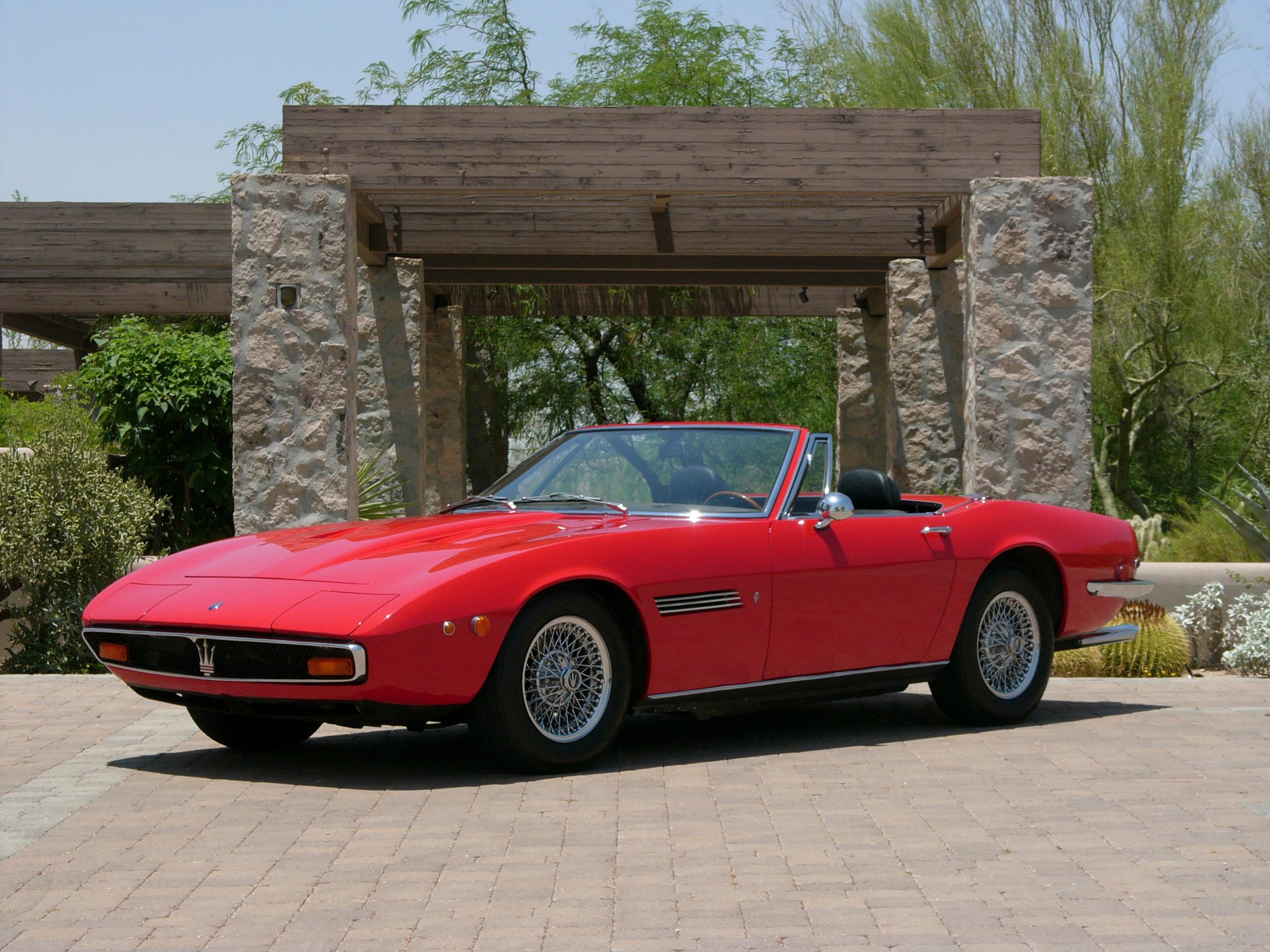 One of 100 produced 1970 Maserati Ghibli Spyder Coachwork by Ghia Chassis...