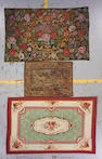 A small Aubusson tapestry  size approximately 4ft. 5in. x 6ft. 7in, 2ft. 10in. x 3ft. 10in, 4ft. 6in. x 7ft.
