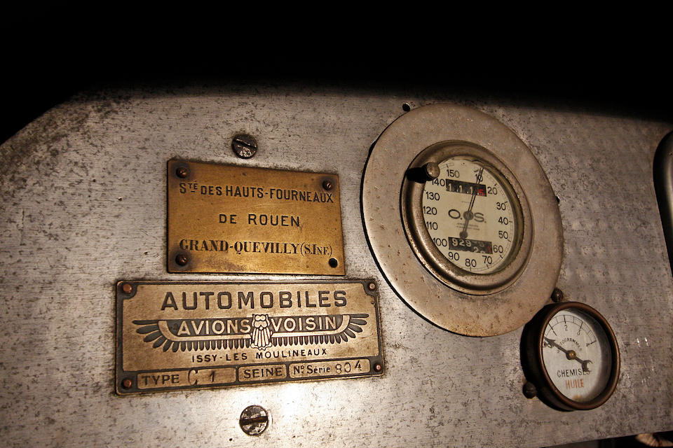Believed to be one of two examples of this model to survive ,1919 Avions Voisin C1 Chauffeur Limousine  Chassis no. 804 Engine no. 826