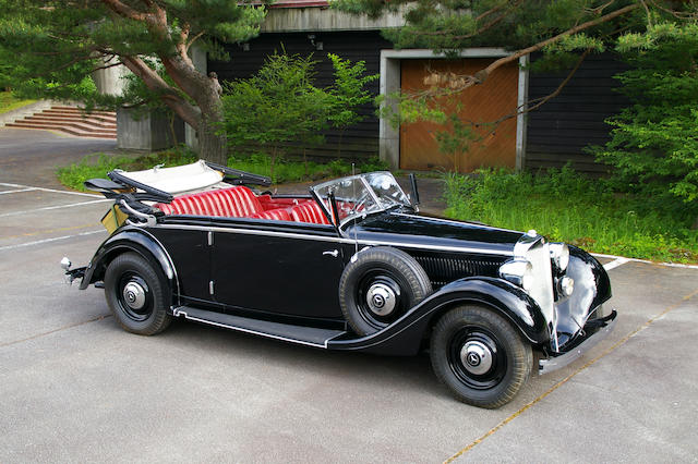 Ordered new by the German Embassy in Japan,1937 Mercedes-Benz Type 320 Cabriolet B  Chassis no. 172263 Engine no. 172263