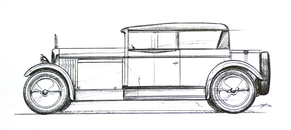 An illuminating design by Gabriel Voisin,1927 Avions Voisin C14 Lumineuse Coach  Chassis no. 28578 Engine no. 28152