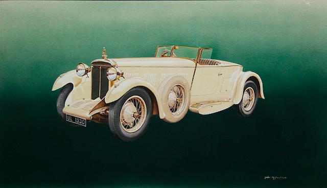 John Peckham, 'Daimler Double Six' car portrait,
