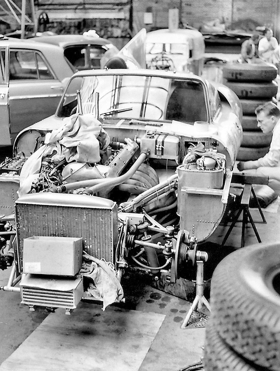 The Ex-Dan Gurney/Walt Hansgen, Sir Jack Brabham, Bruce McLaren,1960 Jaguar E2A Le Mans Sports-Racing Two-Seater Prototype  Chassis no. E2A Engine no. E5028-10, 3.8-liter installed, EE1301-10, 3-liter PI offered with car