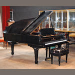 A Steinway ebonized grand piano