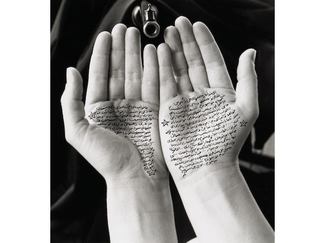 Shirin Neshat (Iranian, born 1957); Guardians of revolution, from Women of Allah series;