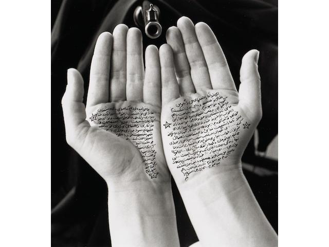 Shirin Neshat (Iranian, born 1957); Guardians of revolution, from Women of Allah series;
