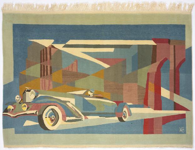 A hand-woven 'Duesenberg' rug,