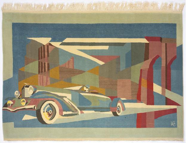 A hand-woven 'Dusenberg' rug,