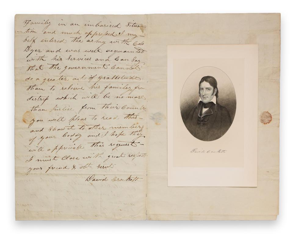 CROCKETT, DAVID STERN.  1786-1936.