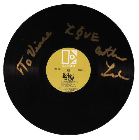 An Arthur Lee of Love signed record to Vince Welnick, 1990s