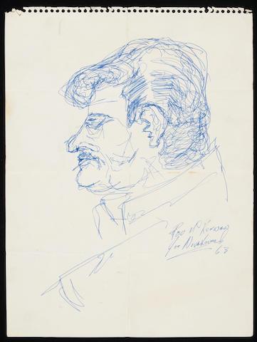 "A Ron ""Pig Pen"" McKernan portrait drawn by a friend, 1963"