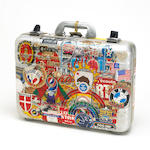 A Rock Scully metal attaché case used to transport important items for The Grateful Dead while on to