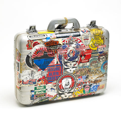 A Rock Scully metal attaché case used to transport important items for The Grateful Dead while on tour, 1960s-1980s
