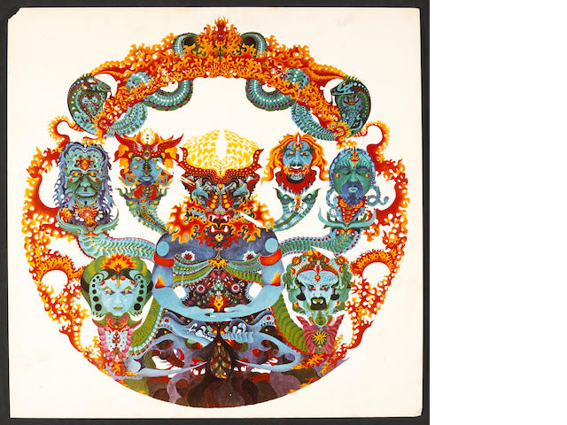 "A Rock Scully-owned piece of ""concept art"" for the Grateful Dead album ""Anthem of the Sun,"" 1968"
