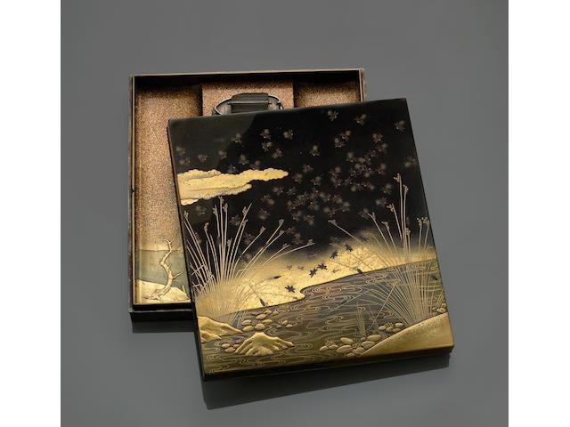 A lacquer suzuribako 19th Century