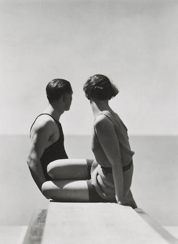 George Hoyningen-Huene (Russian/American, 1900-1968); Divers, Horst and Model, Swimwear by A.J. Izod;