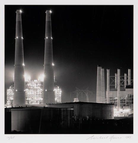 Michael Kenna (British/American, born 1953); Moss Landing Power Station, Study #3, Moss Landing, California;
