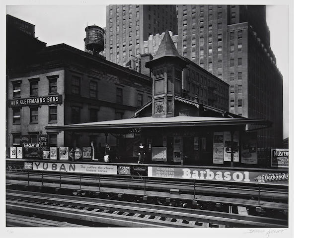 Berenice Abbott (American, 1898-1991); Barclay Street Station, New York;