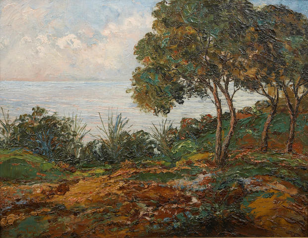 Attributed to Philip Herschel Paradise (American, 1905-1997) California Coast 21 1/4 x 27 1/2in