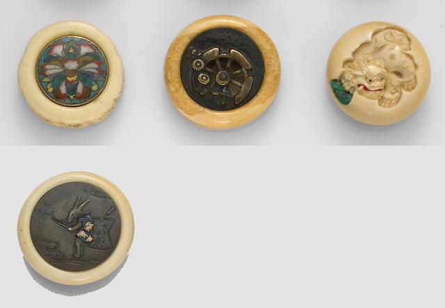 Six ivory netsuke 19th Century and Later