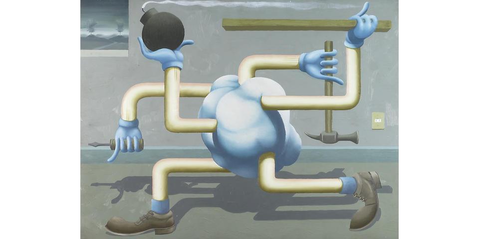Eduardo Cervantes (Mexican, born 1966) Nube con extremidades, 1996 18 1/8 x 27 1/2in
