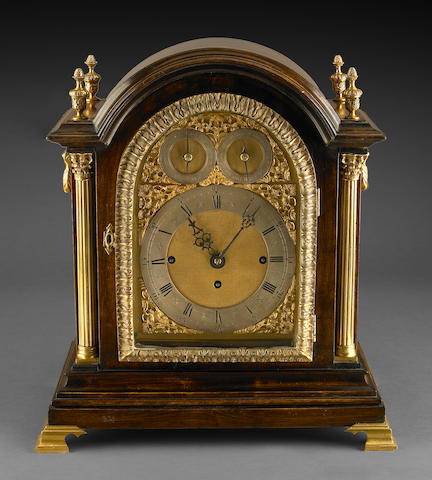 A Victorian mahogany quarter chiming bracket clock