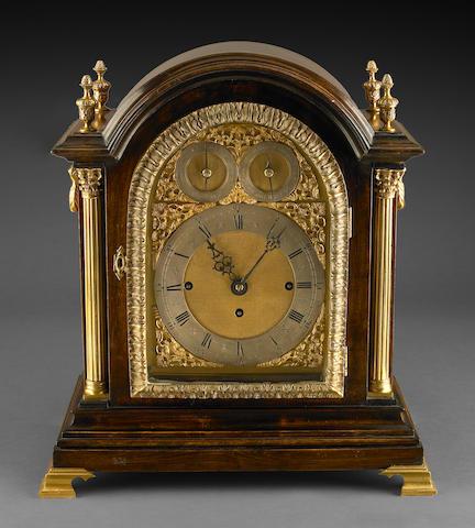 A Victorian mahogany quarter chiming bracket clock