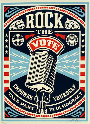 Shepard Fairey Rock the Vote