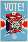 Shepard Fairey (American, born 1970) Vote!