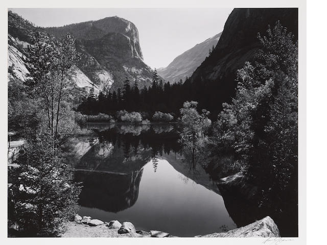 Ansel Adams (American, 1902-1984); Mirror Lake, Yosemite;