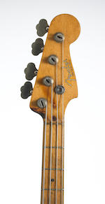 A John Kahn Fender Precision Bass used extensively on stage with Jerry Garcia and in recording sessi