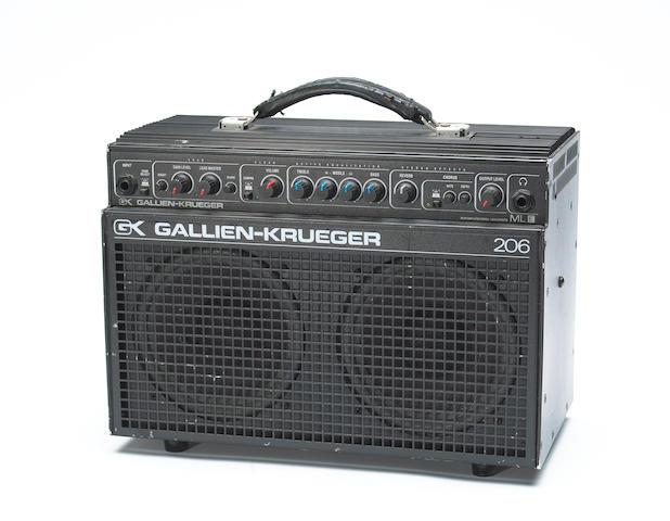 A Jerry Garcia Gallien-Krueger 206 amplifier, 1990s