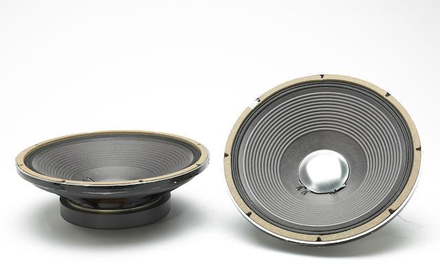 "A Jerry Garcia set of JBL 12"" speakers, 1980s"
