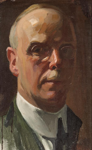 Richard Langtry Partington (American, 1868-1929) Portrait of Ambrose Bierce 15 x 9 1/2in