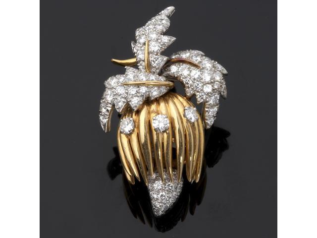 A diamond clip brooch, Schlumberger
