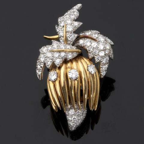 A diamond clip brooch, Schlumberger