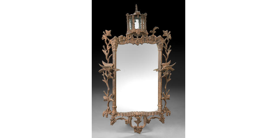 A Chinese Chippendale style mirror