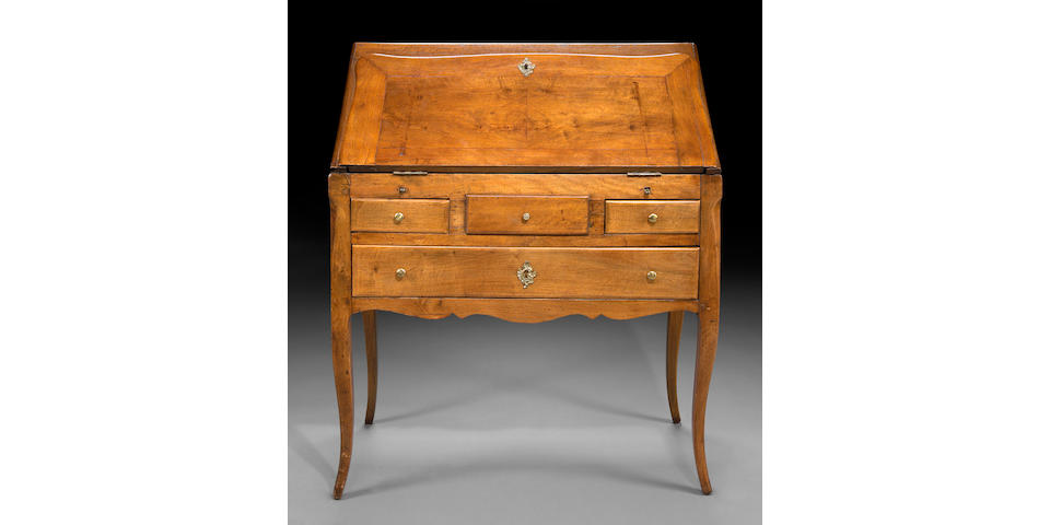A Louis XV walnut bureau
