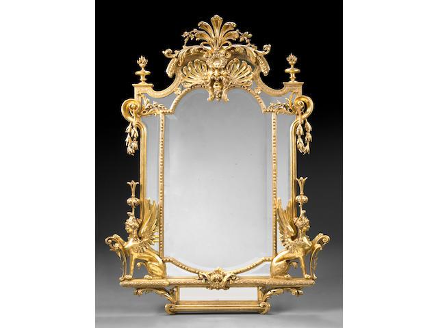 A Napoleon III giltwood pier mirror